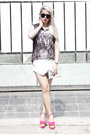 White-zara-shorts-dark-gray-dignitycloth-top