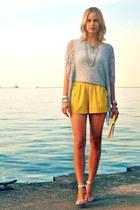 iner shirt - H&M purse - Akira shorts - Steve Madden heels