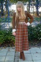 tawny Forever 21 jacket - burnt orange vintage skirt - camel H&M t-shirt
