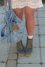White-crochet-forever-21-dress-turquoise-blue-underneath-topshop-dress