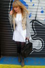 White-dahlia-dress-beige-topshop-jacket-gray-matalan-boots-brown-vintage-p