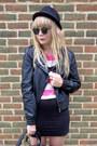 Black-faux-leather-miss-selfridge-jacket-black-next-bag