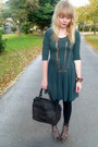Brown-topshop-cardigan-green-asos-dress-brown-vintage-purse-love-label-sho