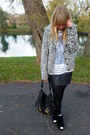 Vintage-cardigan-white-topshop-top-black-topshopthrifted-skirt-brown-thrif