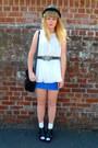 Blue-topshop-dress-black-thrifted-jane-shilton-bag-cream-topshop-blouse-cr