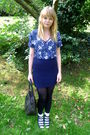 Blue-vintage-blouse-blue-topshop-skirt-black-vintage-bag-labrynth-vintage-