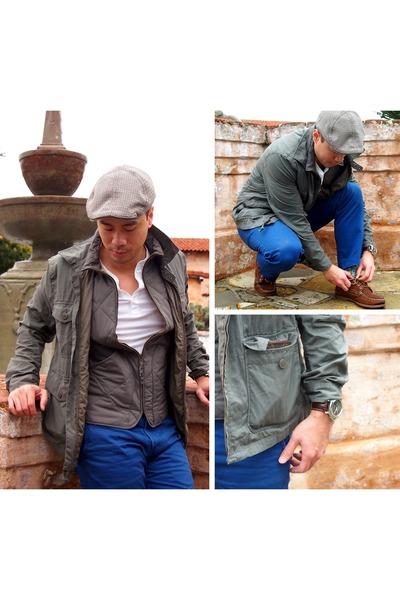 J Crew jacket - Dockers pants - Louis Vuitton wallet