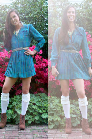 gems vintage belt - City of Sogni Doro dress - ruffles Forever 21 socks