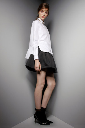 black studded Valentino heels - white Valentino blouse