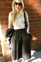 midi H&M skirt - JCrew sweater