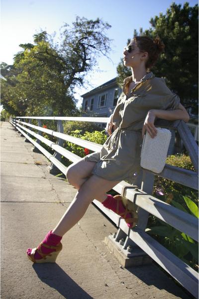 Gap dress - DOTS shoes - socks - vintage accessories