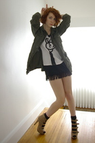 green thrifted UO jacket - beige Forever 21 shoes