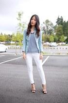navy Club Monaco top - white JCrew jeans - light blue Guess shirt