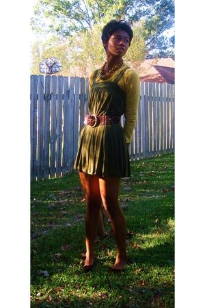 Forever21 dress - Target t-shirt - Target belt - Charlotte Russef shoes - neckla