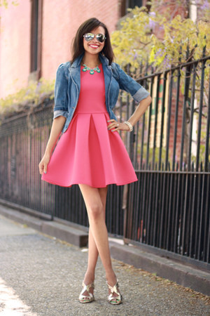 Forever 21 jacket - asos dress - Nine West heels