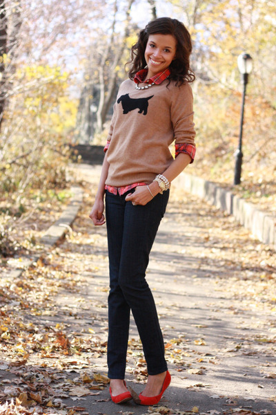 JCrew sweater - JCrew jeans - JCrew shirt - J Crew flats