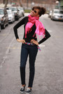 Jcrew-jeans-turtle-neck-h-m-shirt-hot-pink-silk-j-crew-belt