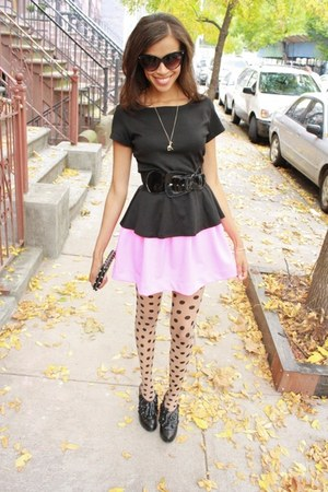 Tobi shirt - Steve Madden boots - asos stockings - Tobi skirt