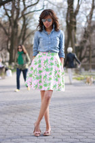 Lilly Pulitzer skirt - J Crew shirt - J Crew flats