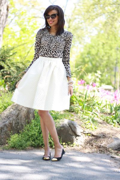 H&M skirt - kate spade flats