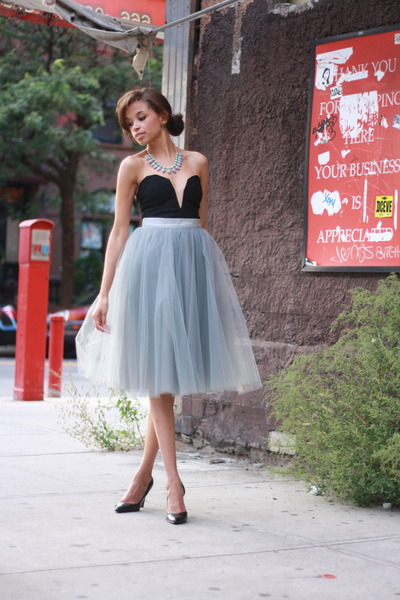 alexandra grecco skirt - Lulus dress - Forever 21 heels - JCrew necklace