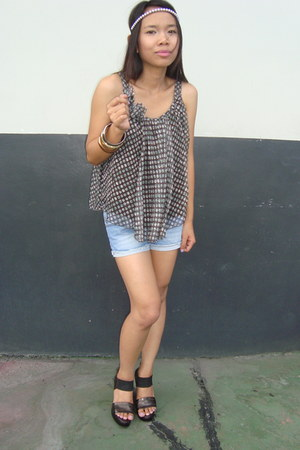 Mango shorts - mags top - janilyn heels