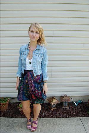 purple thrifted skirt