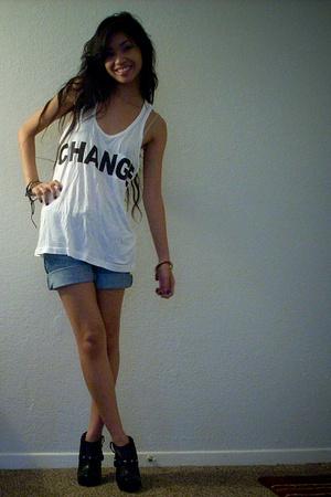 Alexander Wang for Barack Obama shirt - f21 shorts - Colin Stuart shoes - Alex &
