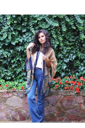 vintage scarf - Topshop jeans