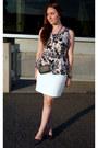 Smart-set-purse-light-pink-peplum-rickis-top-white-h-m-skirt