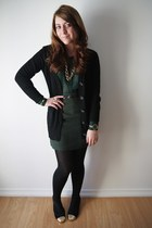 Suzy Shier blouse - Suzy Shier skirt - Reitmans cardigan