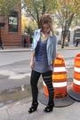 Blue-zara-jacket-gray-top-black-diy-leggings-blue-plan-b-leggings-black-