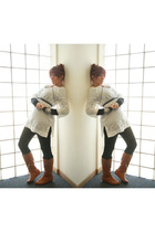 gold clydes rebirth accessories - white Target blouse - black Target leggings -