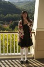 Black-bar-iii-dress-ivory-knee-high-socks-socks-maroon-cardigan