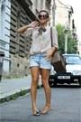 H-m-shirt-barbour-scarf-h-m-shorts-prada-sunglasses