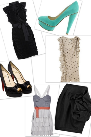 black Diane Von Furstenberg dress - green Elizabeth and James Mason shoes - beig
