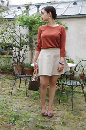 burnt orange J Crew sweater