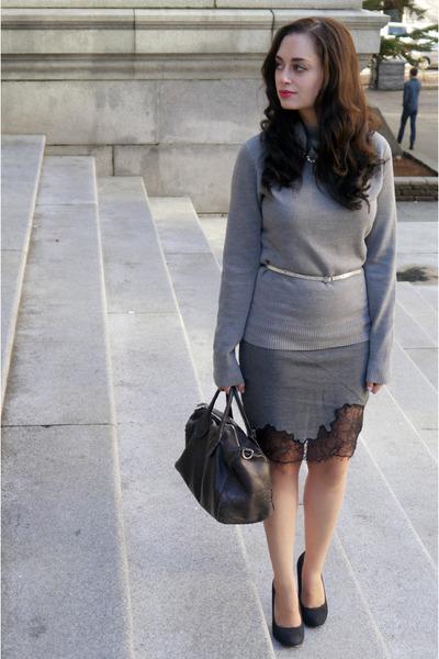 charcoal gray robert rodriguez skirt