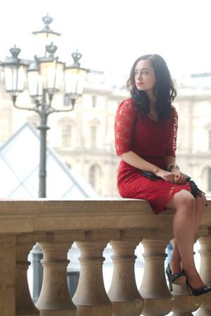 ruby red Dear Faithful dress