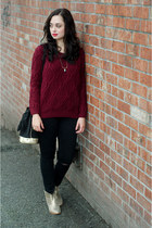 maroon Sheinside sweater