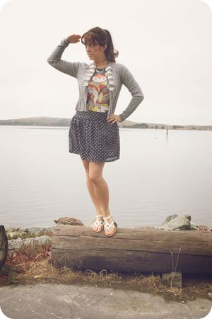 Forever 21 cardigan - modcloth skirt -  shoes - Urban Outfittersr necklace - mod