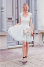 Light-blue-boohoo-dress-light-pink-choies-bag-black-zara-sandals
