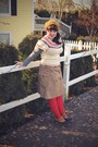 Navy-ll-bean-boots-red-sock-dreams-tights-cream-forever-21-sweater-camel-g
