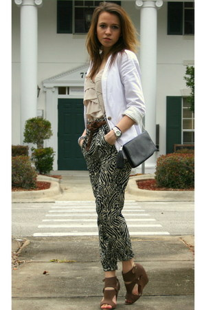H&M pants - Marc by Marc Jacobs watch - asos wedges - UO blazer