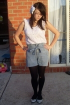 Living Doll top - MNG shorts - accessories - Target Australia shoes