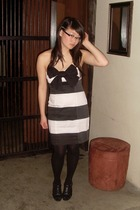 Bauhaus dress - Kmart shoes - stockings