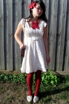Living Doll dress - coo ca choo accessories - thrifted accessories - thrifted pu