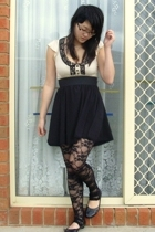 Miss Selfridge top - Living Doll skirt - Sunny Girl leggings - Novo shoes