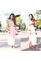 bubble gum mesh Skirt skirt
