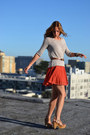 Light-orange-urban-outfitters-skirt-beige-urban-outfitters-sweatshirt